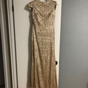 Sorella Vita 8718 Size 12 Gold Formal Dress